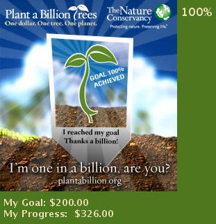 One dollar, one tree, one planet.