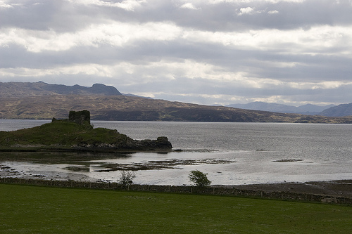 [Knock Castle, Sleat, Isle of Skye, Scotland, UK.]
